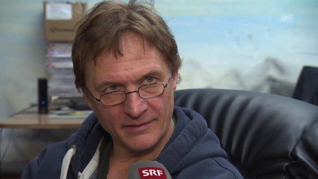 Video «Eishockey: Del Curto vor Playoff-Final, II» abspielen
