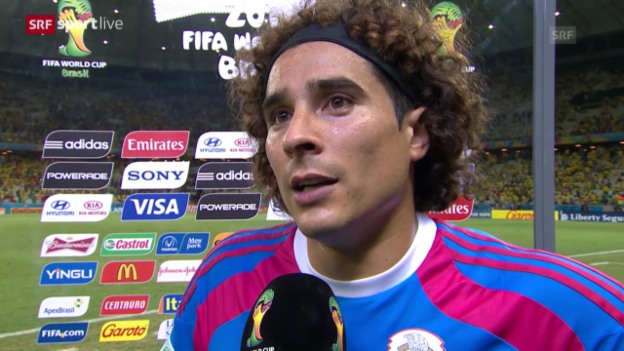 Video «Interview mit Mexiko-Keeper Guillermo Ochoa» abspielen