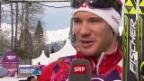 Video «Langlauf: Skiathlon, Interview mit Dario Cologna (sotschi direkt, 9.2.2014)» abspielen