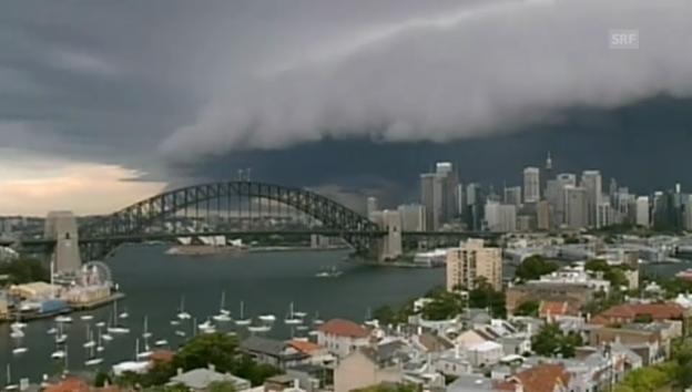 Video «Riesige Gewitterfront über Sydney» abspielen