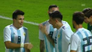 Video «Argentinien gewinnt Test gegen Mexiko» abspielen