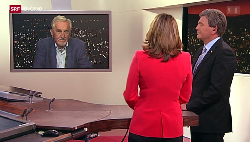 Streitgespräch Res Schmid und José Ribeaud