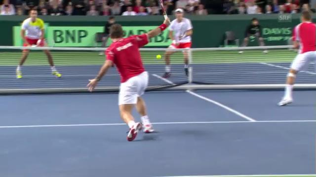 Davis Cup Doppel: Die wichtigsten Ballwechsel