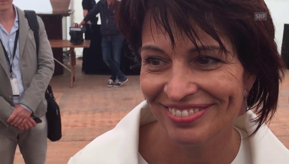 Emotionale Doris Leuthard am Gotthard