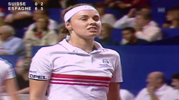 Video «Tennis: Fed-Cup 1998, Final, Schweiz - Spanien, Doppel» abspielen