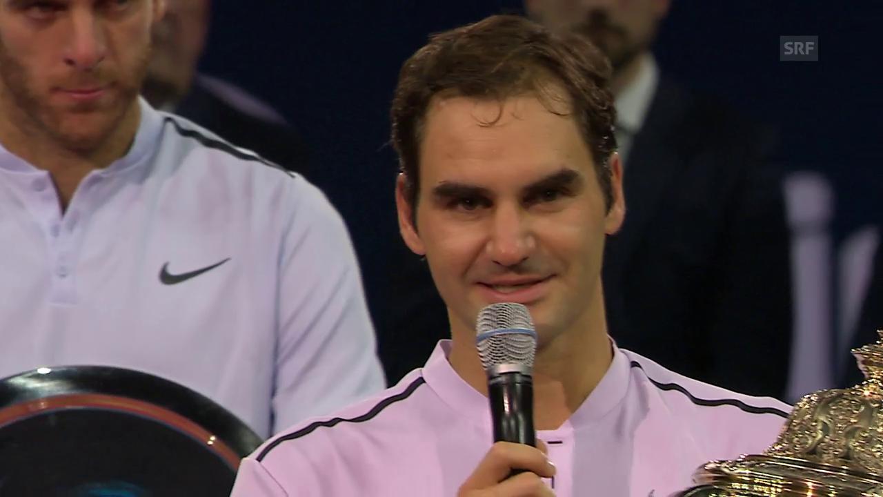 Federer: «Hoffe, das war nicht das letzte Mal»