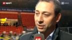 Video «André Röthelis 1. Spiel als Flyers-Sportchef» abspielen