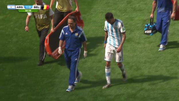 Video «FIFA WM 2014: Di Maria verletzt sich» abspielen