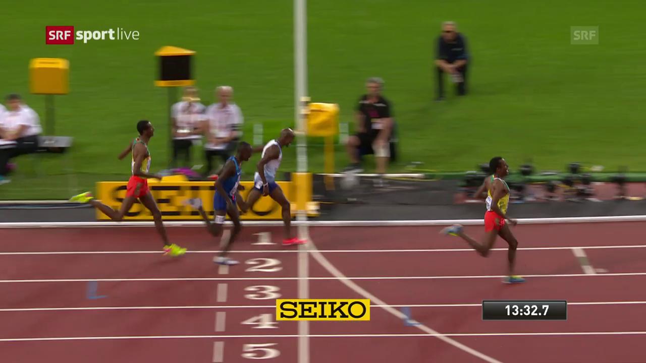 Edris schlägt Farah - die Entscheidung über 5000 m