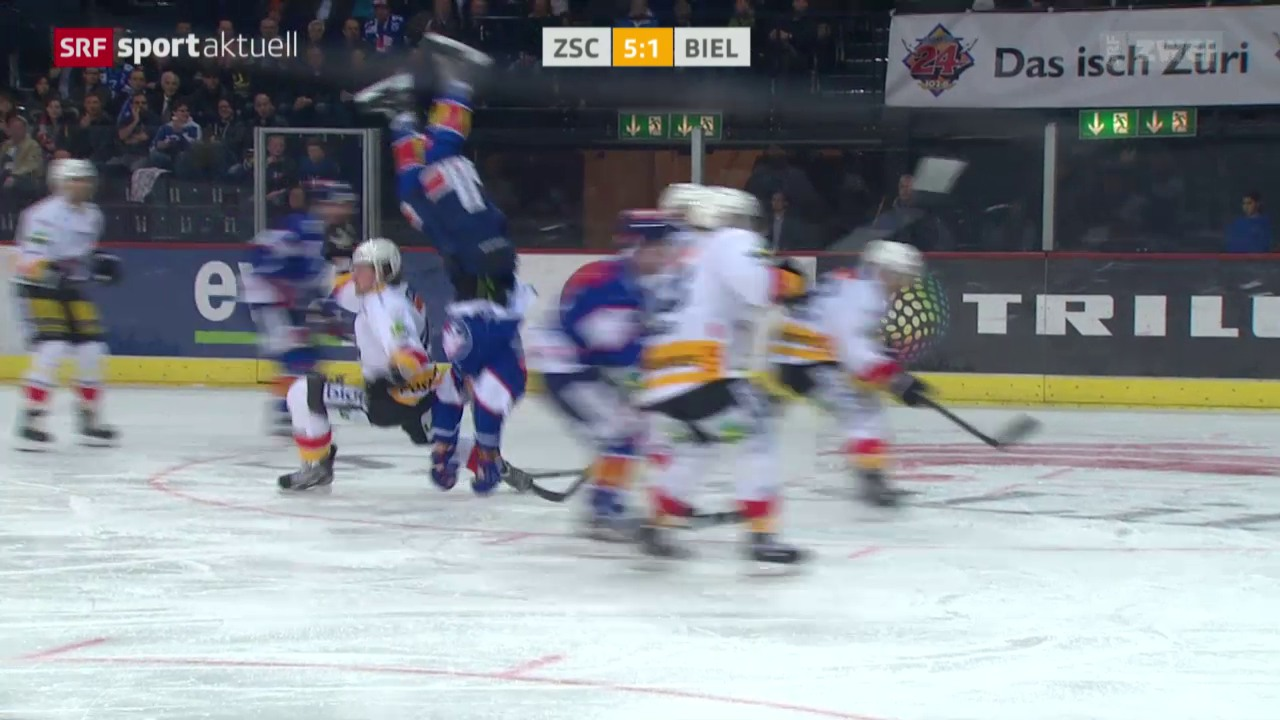 Eishockey: Schäppi Salto