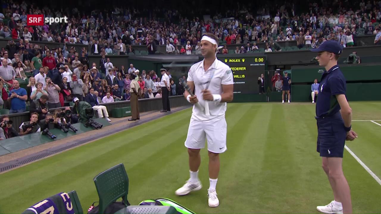 Federer beendet Willis' Märchen in der 2. Runde
