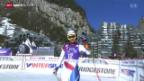 Video «Ski: Abfahrt der Frauen in Val d'Isère» abspielen