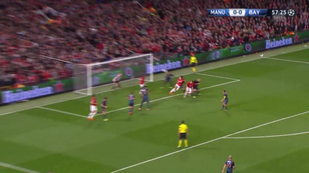 Video «Fussball: Champions-League-Viertelfinal, Highlights Manchester United - Bayern» abspielen