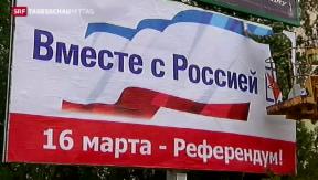 Video «Einseitiger Abstimmungskampf auf der Krim» abspielen