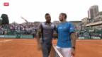 Video «Tennis: ATP 1000 Monte Carlo, Wawrinka - Tsonga» abspielen