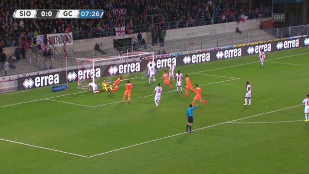 Video «Fussball: Super League, Highlights Sion - GC» abspielen