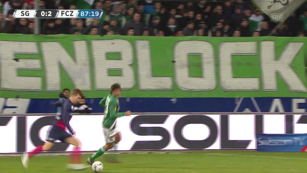 Fussball: Super League, Tore St. Gallen - FCZ («sportlive», 09.02.14)