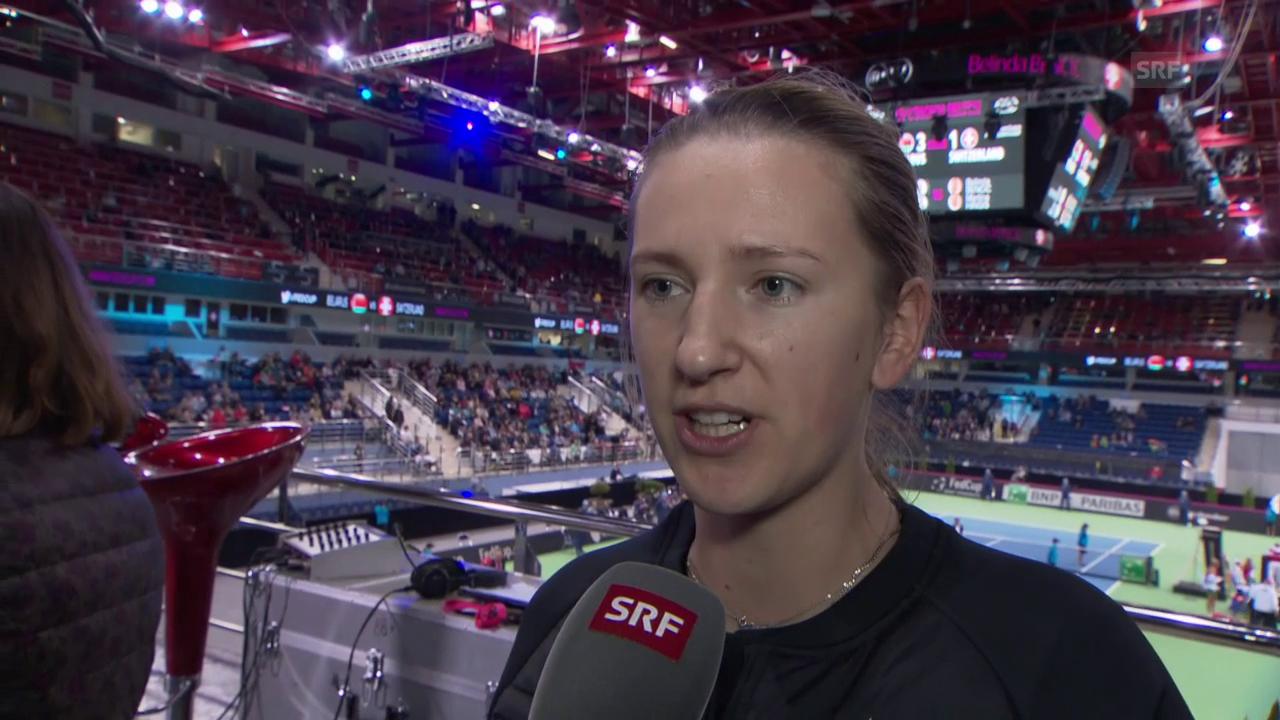 Viktoria Asarenka: «Bin sehr stolz auf die Girls» (Engl.)