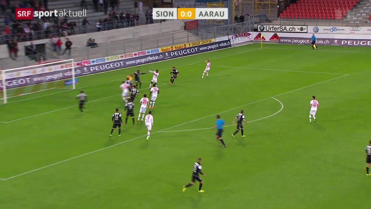 Fussball: Super League, Sion - Aarau