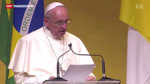 Papst Franziskus begeistert die Massen