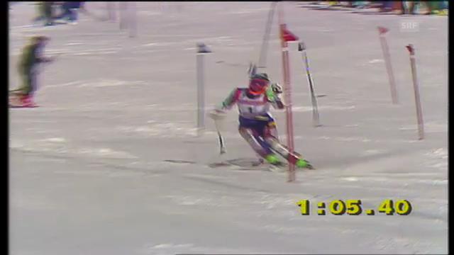 Kombi-Abfahrt und - Slalom von Chantal Bournissen