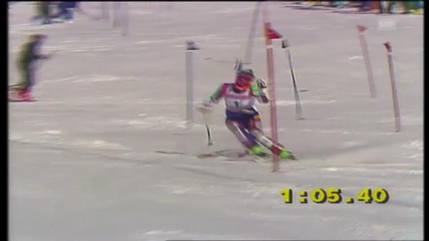 Video «Kombi-Abfahrt und - Slalom von Chantal Bournissen» abspielen