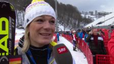 Video «Ski: Super-Kombi Frauen, Interview mit Maria Höfl-Riesch (sotschi direkt, 10.2.2014)» abspielen