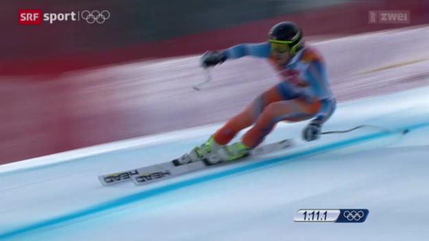 Video «Ski: Jansrud triumphiert im Super-G» abspielen