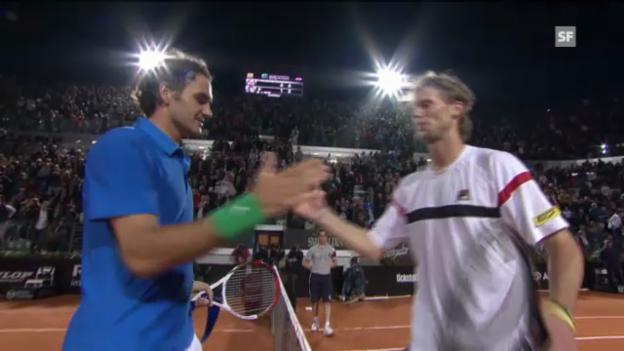 Video «ATP Rom: Highlights Federer-Seppi (unkommentiert)» abspielen