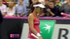 Video «Tennis: Fedcup, Polen-Schweiz, Einzel Hingis» abspielen