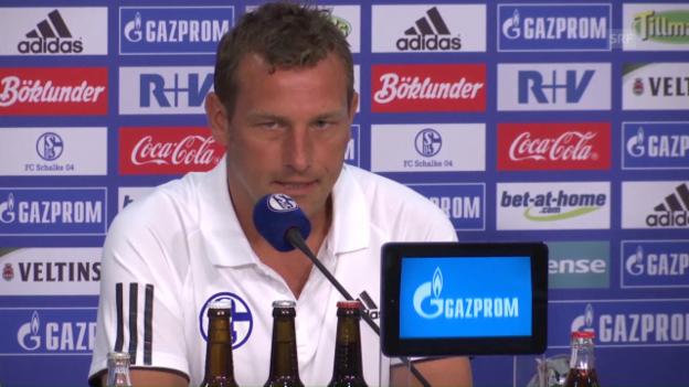 Video «Schalke-Coach Weinzierl vor dem Bayern-Spiel» abspielen