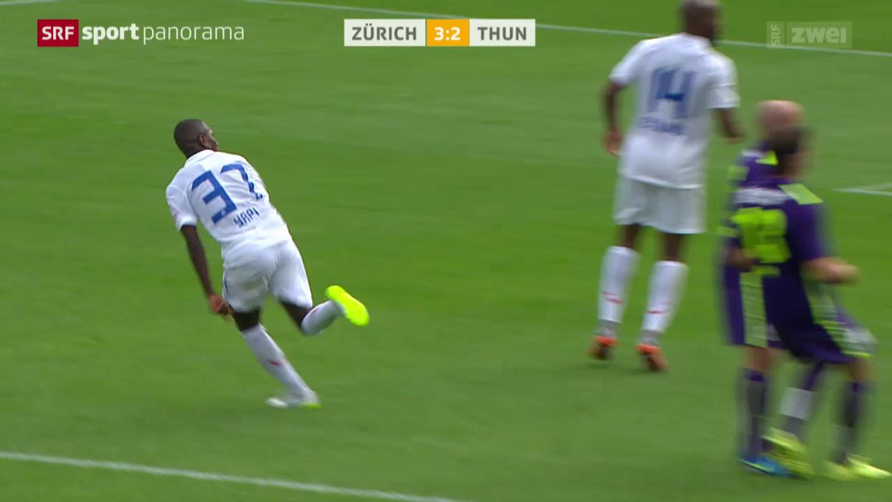 Fussball: Super League, Zürich - Thun