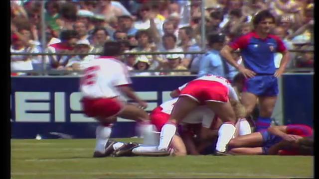 Cupfinal 1982: Sion schlägt Basel 1:0 (Torschütze Alain Balet)