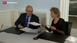 Video «Entspannung mit Frankreich im Steuerstreit» abspielen