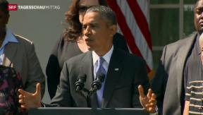 Video «Grosser Tag für Obama» abspielen