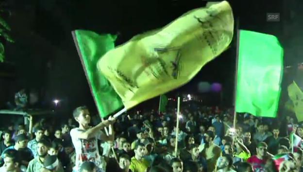 Video «Jubel in Gaza-Stadt (unkommentiert)» abspielen