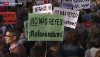 Video «Spanier demonstrieren gegen Monarchie» abspielen