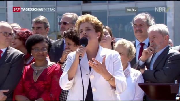 Video «Verfahren gegen Rousseff» abspielen