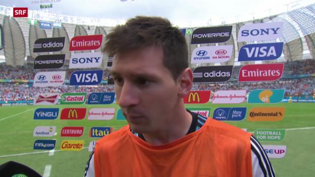 Video «Interview mit Lionel Messi» abspielen