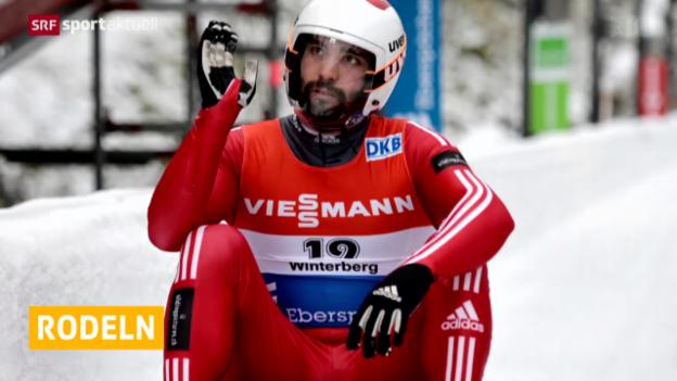Video «Rodeln: Weltcup in Winterberg» abspielen