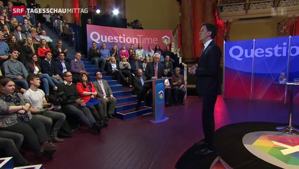 «Question Time»: Britische Wahlen rücken näher