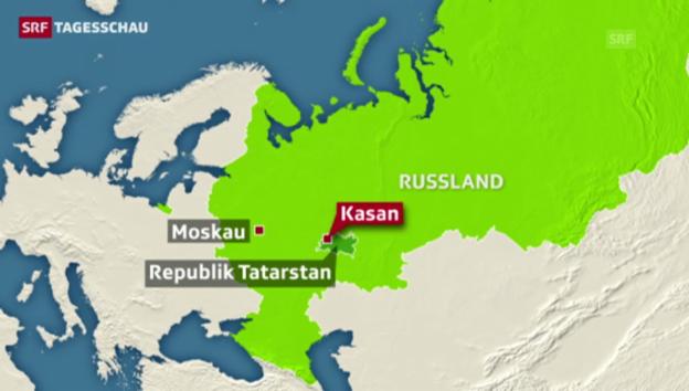 Video «50 Tote bei Flugzeugabsturz in Kasan» abspielen