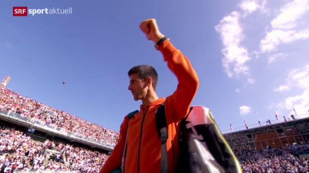 Video «Tennis: French Open, Viertelfinal Nadal - Djokovic» abspielen
