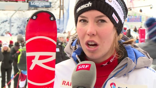 Video «Ski: Slalom Santa Caterina, Interview Michelle Gisin» abspielen