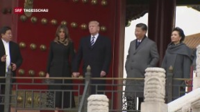 Video «US-Präsident Trump in China» abspielen