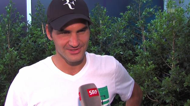 Video «Tennis: Roger Federer in Melbourne zu seinem Gesundheitszustand» abspielen