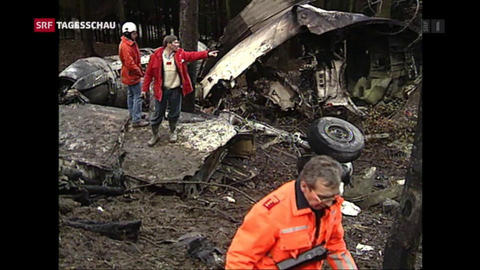 Aus dem Archiv: Chronologie der Flugzeugunglücke in der Schweiz