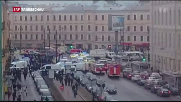 Video «Sprengsatz explodiert in U-Bahn» abspielen