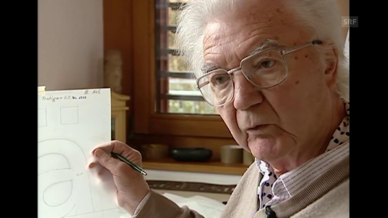 Adrian Frutiger setzt mit seinen Schriften Zeichen (Schweiz aktuell, 23.1.2003)