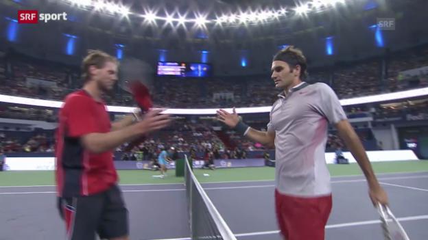 Video «Federer steht im Achtelfinal» abspielen